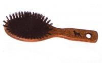 Mała, owalna szczotka drewniana z włosiem z dzika - brak Włosie naturalne