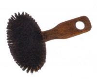 Duża, owalna, z poprzeczną rączką, szczotka dla zwierząt z naturalnym włosem - brak Włosie naturalne