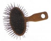 Szczotka owalna duża z poprzeczną rączką - Brak Szpilki metalowe 35mm